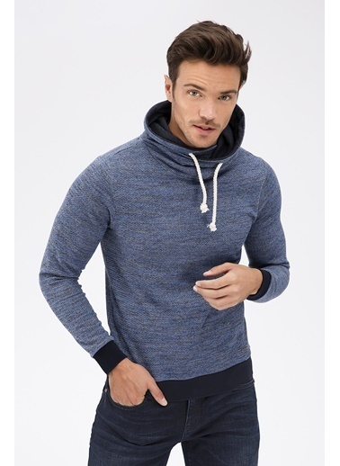 Avva Yaka Detaylı Sweatshirt Lacivert